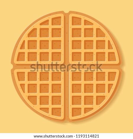 Round waffle. Vector illustration. Сток-фото ©