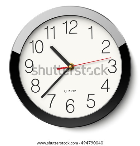 round wall clock without