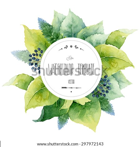 round watercolor template with
