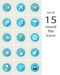 round web icons. vector design elements set. eps10
