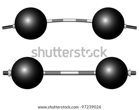 round weights isolated over white background, abstract vector art illustration
