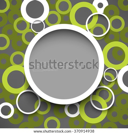 round white round frame with