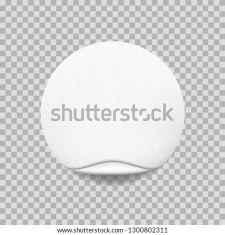 Round white sticker with paper texture #1300802311