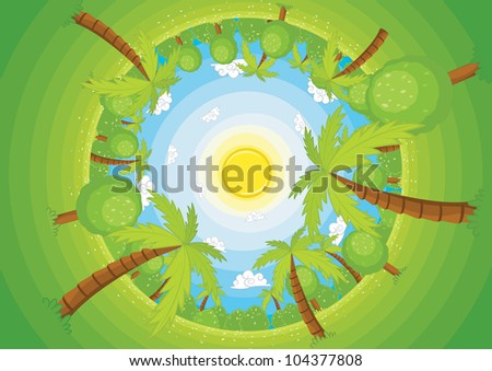 Round world vector illustration