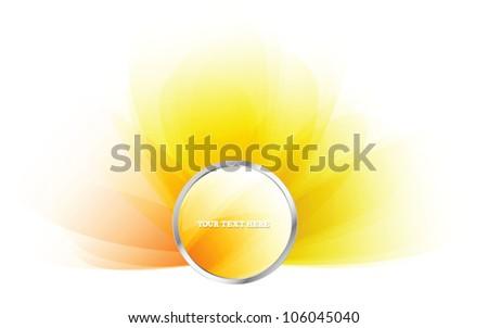 Round yellow web  glossy vector badge
