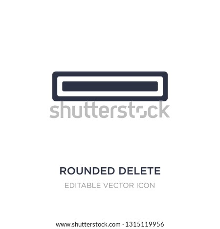 rounded delete button with minus icon on white background. Simple element illustration from UI concept. rounded delete button with minus icon symbol design.