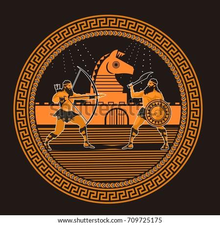 rounded orange and black greek