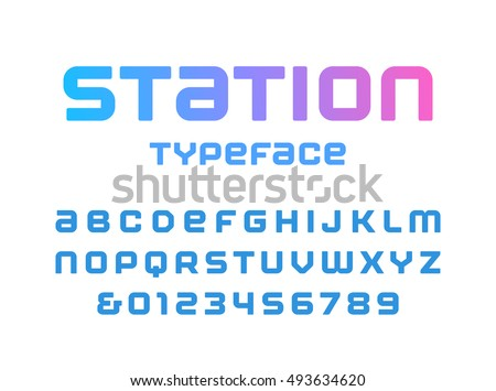 rounded square font vector