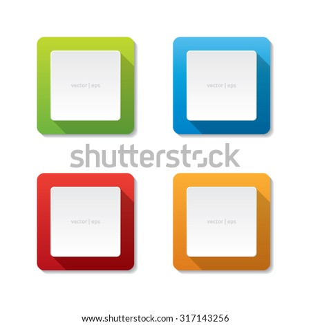 Rounded Square Vector Labels