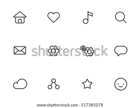 rounded thin icon set 01   home