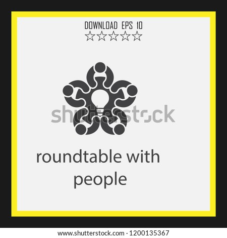 roundtable with people   vector icon