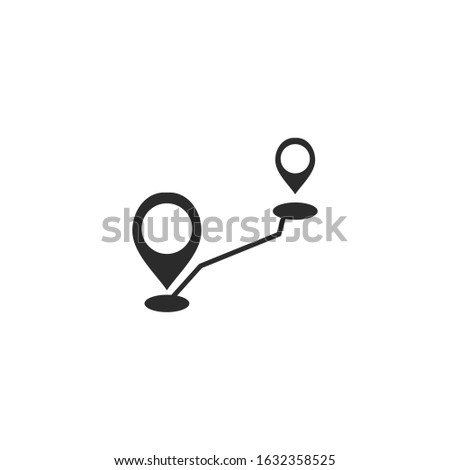 Route location Icon template color editable. Track direction symbol vector sign isolated for graphic and web design.