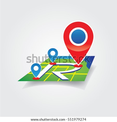 Route Map Logo Sign Symbol Icon #551979274