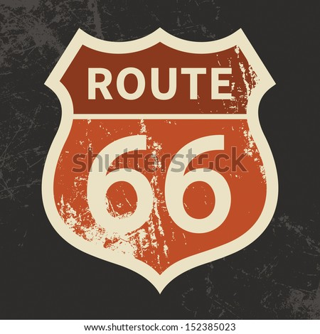 route 66 sign  vector...