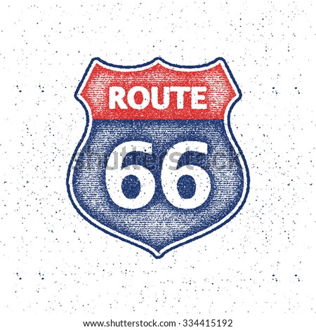 route 66 sign. vector...