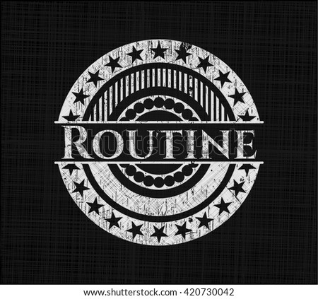 Routine chalk emblem