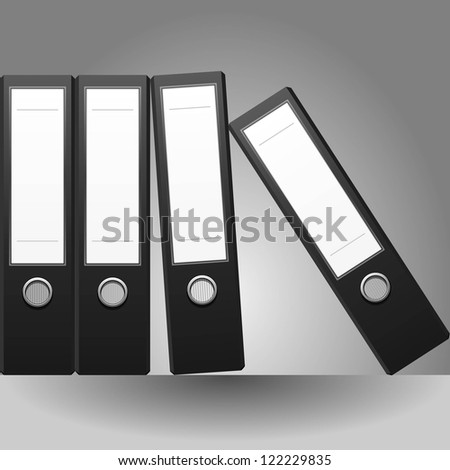 Row of binders vector