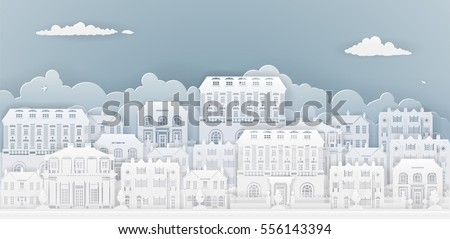 row of houses and buildings in...