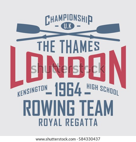 rowing sport london typography
