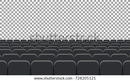 Rows of Cinema or Theater Seats. Illustration