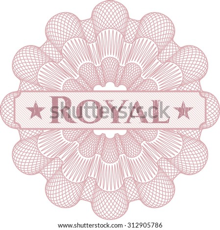 Royal abstract rosette