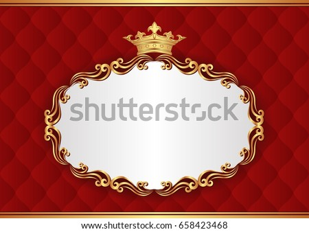 royal background with decorative frame