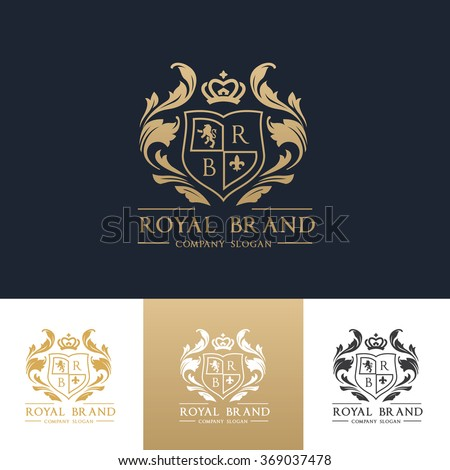 Royal Brand Logo,Crown logo,Lion Logo,Crest logo,Vector logo template