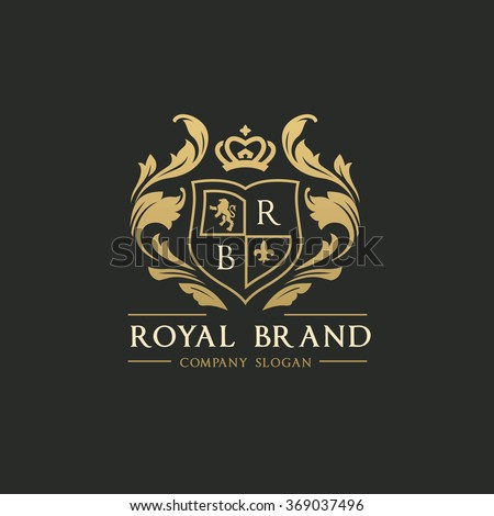 Royal Brand Luxury Crest Logo Template