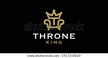 royal chair with initial t and