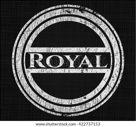 royal chalkboard emblem written