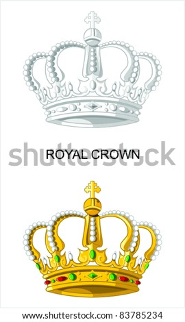 Royal Crown - stock vector