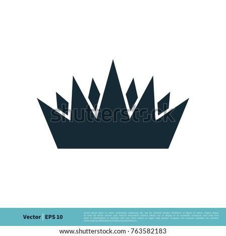 Royal Crown Icon Vector Logo Template