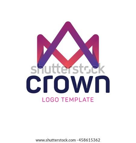 Royal crown logo template