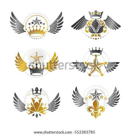 royal crowns and ancient stars