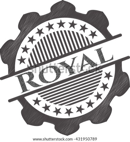 royal draw with pencil effect