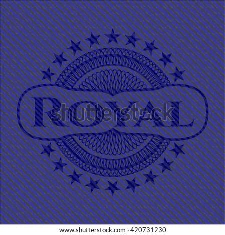 royal emblem with jean