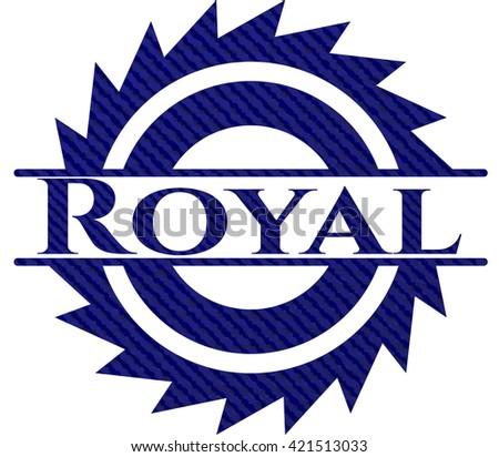 royal emblem with jean high