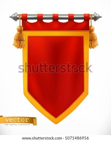 Royal flag. 3d vector banner