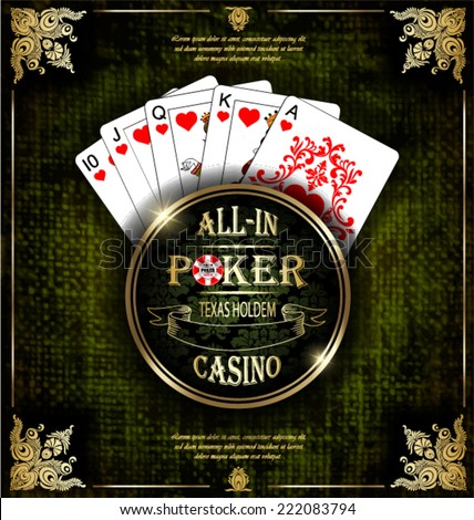 Texas holdem all in show cards