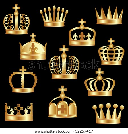 Royal Symbols http://www.shutterstock.com/pic-32257417/stock-vector-royal-gold-crown-as-a-power-symbol.html