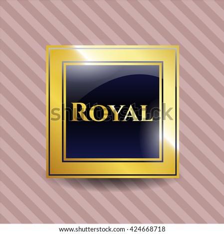 royal golden emblem
