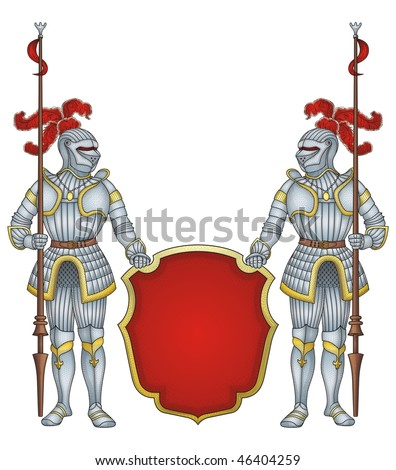 royal guard knights  vector