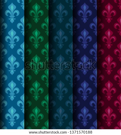 royal heraldic lilies  fleur de