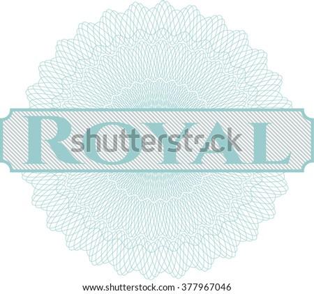 royal inside money style emblem