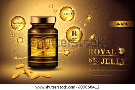 royal jelly ad with capsules