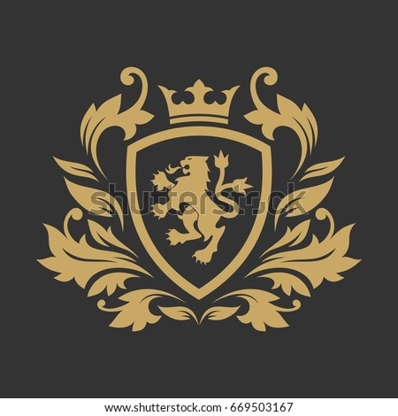 Royal luxury logo design template Foto d'archivio ©