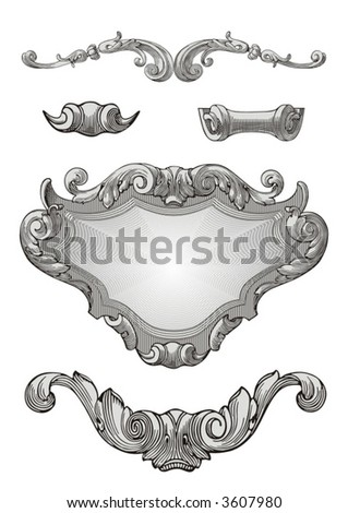 Royal ornaments vector