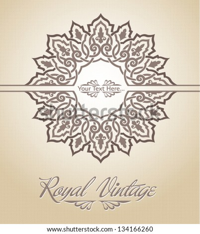 Royal pattern card