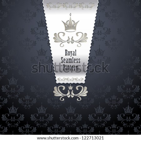 royal seamless pattern with
