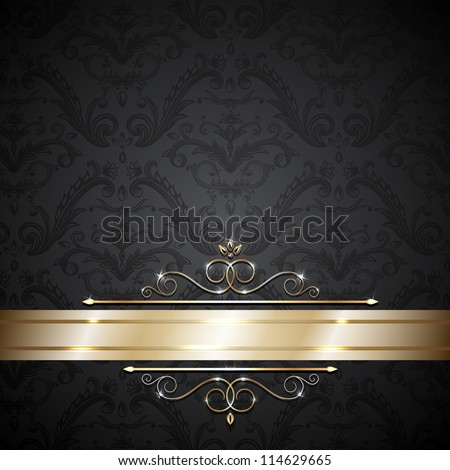 stock-vector-royal-template-with-ornate-background-and-golden-swirls
